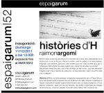 Raimon Argemí exposa Històries d'H a Espai Garum nª 52