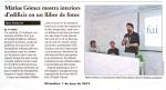 El 9 Nou publica la noticia de la presentació del llibre FUI de Màrius Gómez