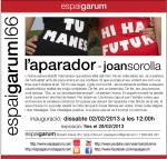 Joan Sorolla exposa a l'Espai Garum al febrer
