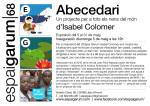 Isabel Colomer exposa «Abecedari» un projecte per a tots els nens del món