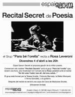 El grup «Para bé l'orella» recita a Rosa Leveroni.